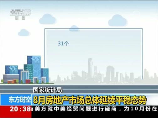 [东方时空]国家统计局 8月房地产市场总体延续平稳态势