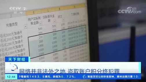 [天下财经]网络并非法外之地 盗取账户积分终犯罪