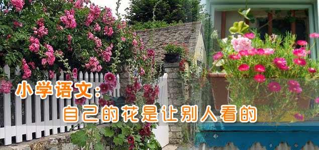 小学语文:自己的花是让