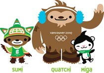 <font color=blue>Miga, Quatchi et Sumi</font><br><a></a>------------------------------------------<br>Miga et Quatchi sont les mascottes officielles des Jeux olympiques d´hiver de 2010 tandis que Sumi est la mascotte officielle des Jeux paralympiques d´hiver de 2010.