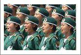 铿锵玫瑰三军女兵方队