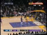 [视频]NBA:科比再奉献精彩助攻 布朗扣篮得分