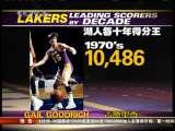 [NBA]湖人半个世纪得分王 科比改写十年得分纪录
