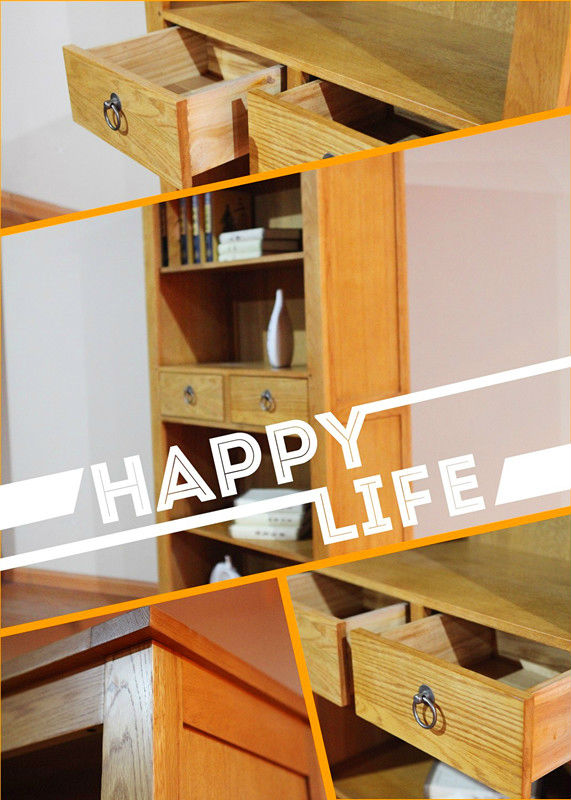 欧式风格家具木质单个书柜原木书架实木原单柜类储藏