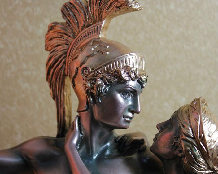 创意仿古工艺品欧式家居装饰树脂人物摆件雕塑