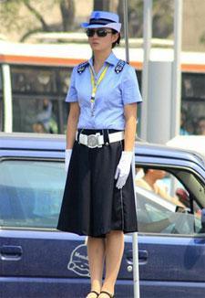 西安街头最美女交警
