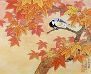 枫叶山雀-2003年-33x45cm