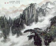 黄山松云仙乡妙境图