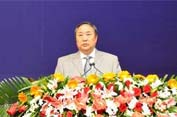 中国图书馆学会名誉理事长、国家图书馆馆长周和平做报告