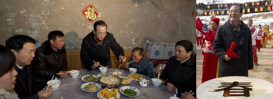 Chinese premier urges government to improve livelihoods of rural, urban dwellers