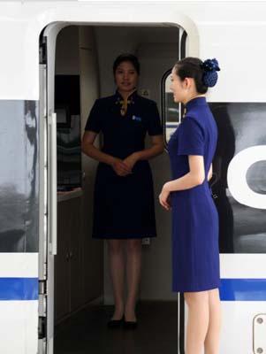 Les hôtesses des trains CRH Beijing-Shanghai