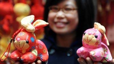 """Chine : les """"lapins"""" deviennent très populaires à l´approche de la Fête du Printemps"""