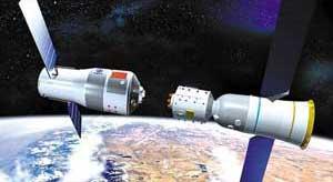 <FONT COLOR = #FF8000><B>La mission du vaisseau spatial Shenzhou 8 <BR>.</FONT></B><BR>