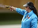 女子25米手枪陈颖获得银牌