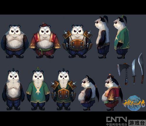 除了那些耳熟能详的神话人物外,中国最具代表性的动物——熊猫也被纳