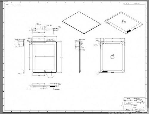 苹果通过开发者网页公开ipad 2图纸