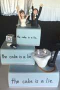游戏结束该结婚了 创意婚礼蛋糕让你大开眼界