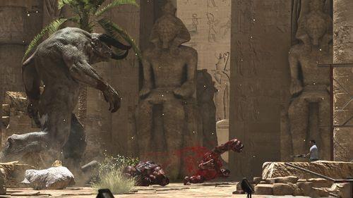 e3:《英雄萨姆3》最新游戏截图 牛头人boss_单