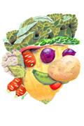牛肉马里奥与蔬菜路易 国外艺术家创意食物搭配