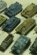 几个漂亮的威龙和小号手1/144的坦克模型