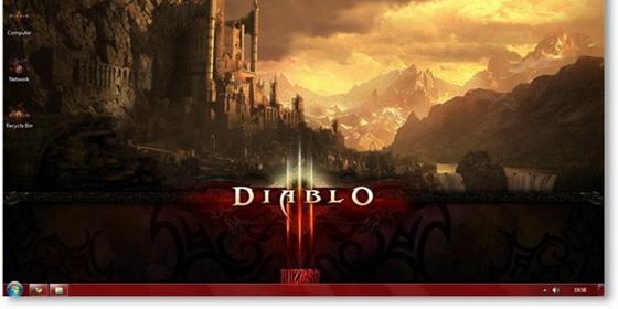 《暗黑破坏神3》Win7主题包下载