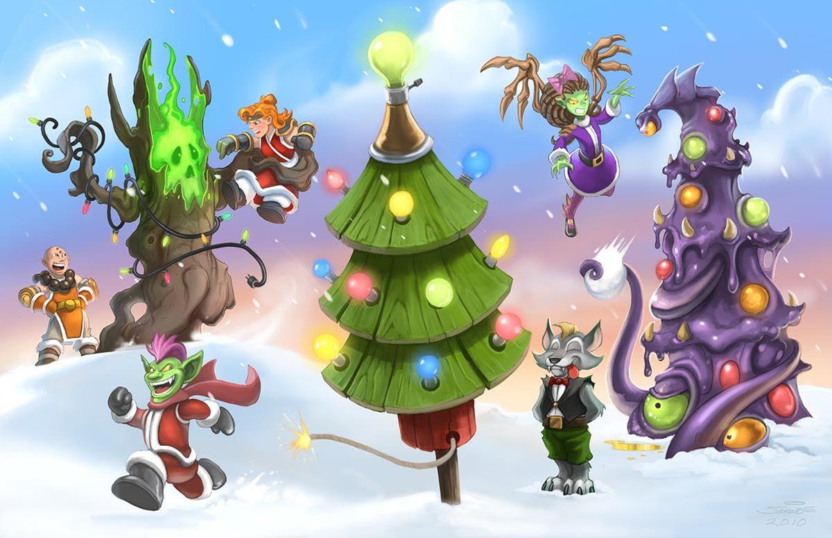 暴雪发布2011圣诞贺卡 魔兽星际暗黑同台表演摇滚乐