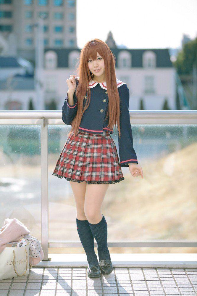 清新可爱美少女制服短裙学生妹cos