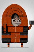 """艺术家绘画《质量效应》系列人物可爱""""纸片人""""造型"""