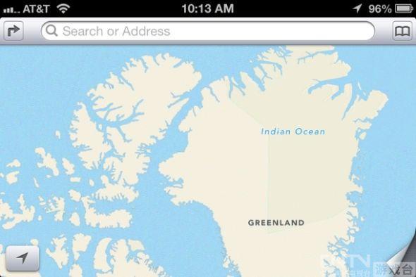 苹果地图出现低级错误:印度洋标成北冰洋