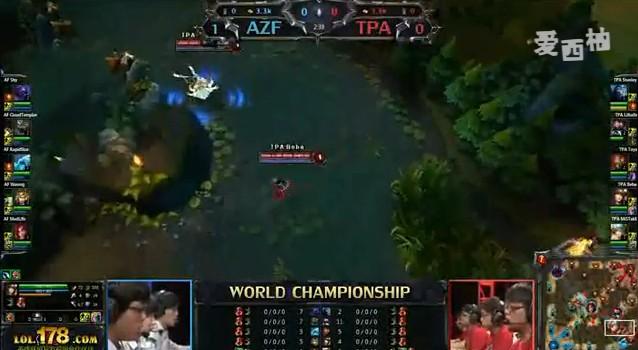 英雄联盟S2世界总决赛决赛 TPA VS AZF第二场