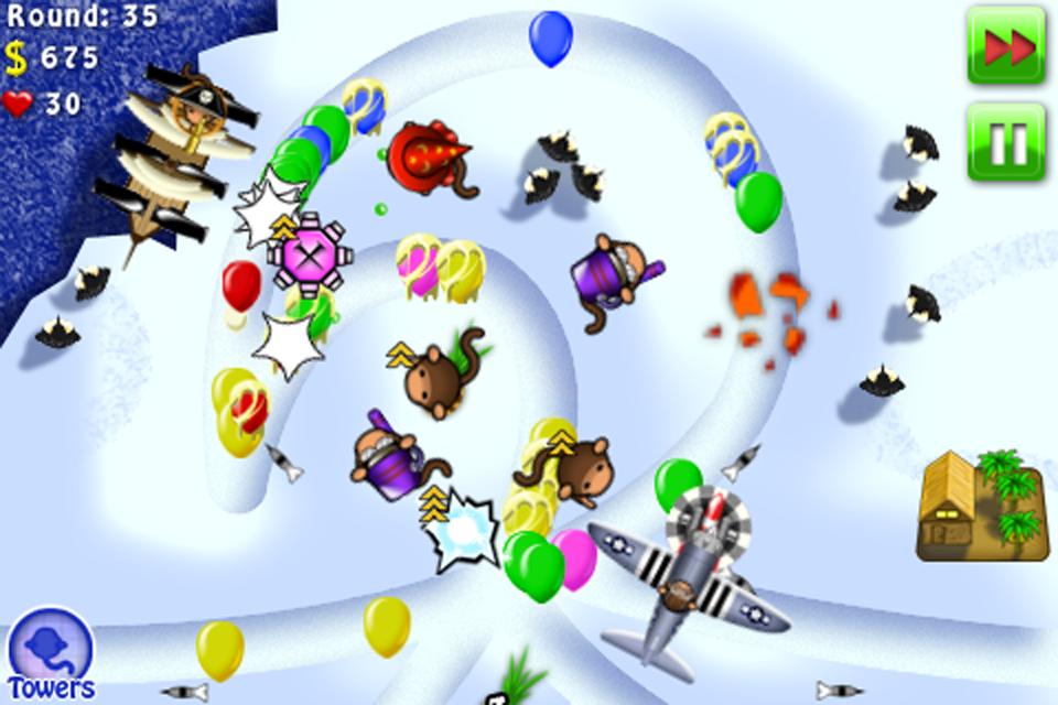 街机游戏 气球防塔 完整版