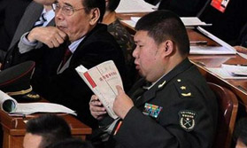 代表委员:毛新宇会场读哲学