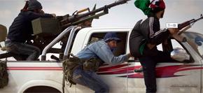 <br><font color=blue><font size=2><font color=brown>【8月22日】</font> 利反对派攻占首都 全城搜捕卡扎菲 </font></font><br>8月22日,利比亚的局势出现了重大的转折,反政府军并称已经控制首都。卡扎菲行踪不明,次子赛义夫已被捕,利比亚政府岌岌可危。