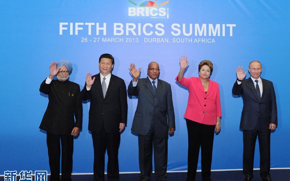 3月27日,国家主席习近平在南非德班出席金砖国家领导人第五次会晤.