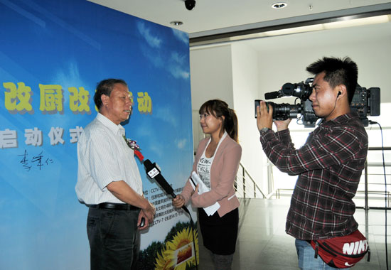 中国建筑装饰协会会长李秉仁接受访问
