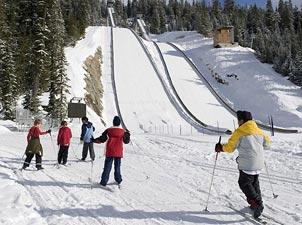 惠斯勒奥林匹克公园<br>比赛项目:冬季两项、越野滑雪、北欧两项和跳台滑雪