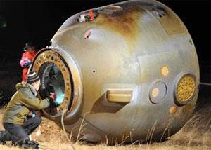 Nave espacial Shenzhou-8 regresa a la Tierra