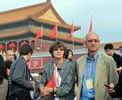 参加庆祝大会的外国记者和嘉宾