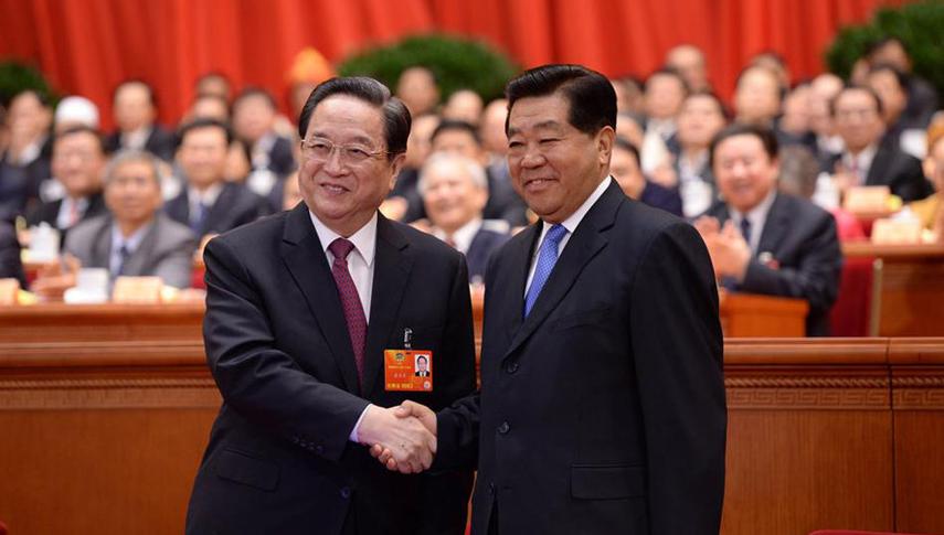 全国政协十二届一次会议第四次全体会议 俞正声当选政协主席 贾庆林到场祝贺