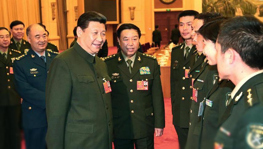 习近平等军委领导接见来自基层的部分军队人大代表