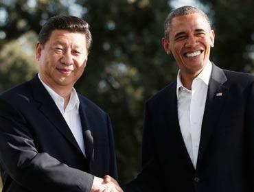 习近平访美会晤奥巴马图片