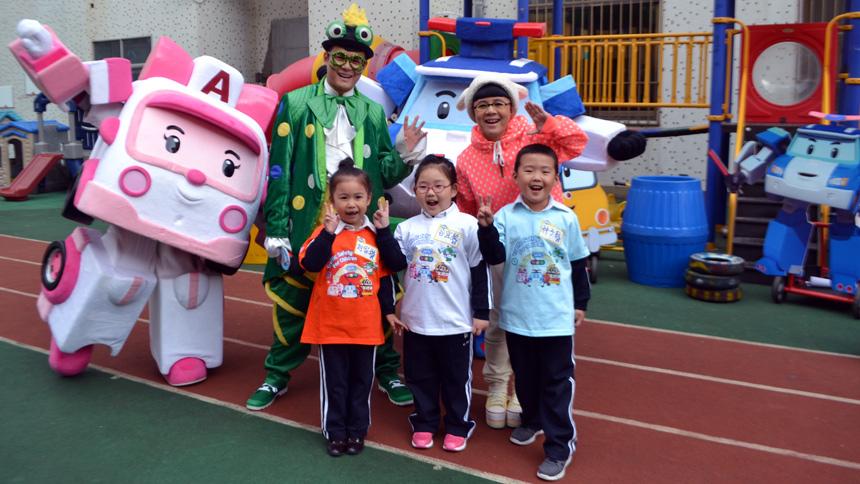 《金龟子城堡》栏目在金螺号幼儿园内录制节目