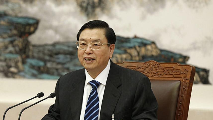 张德江主持十二届全国人大二次会议主席团常务主席第三次会议