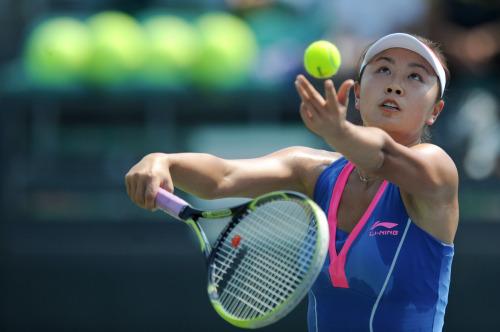 [高清组图]彭帅强势晋级全运网球女单决赛