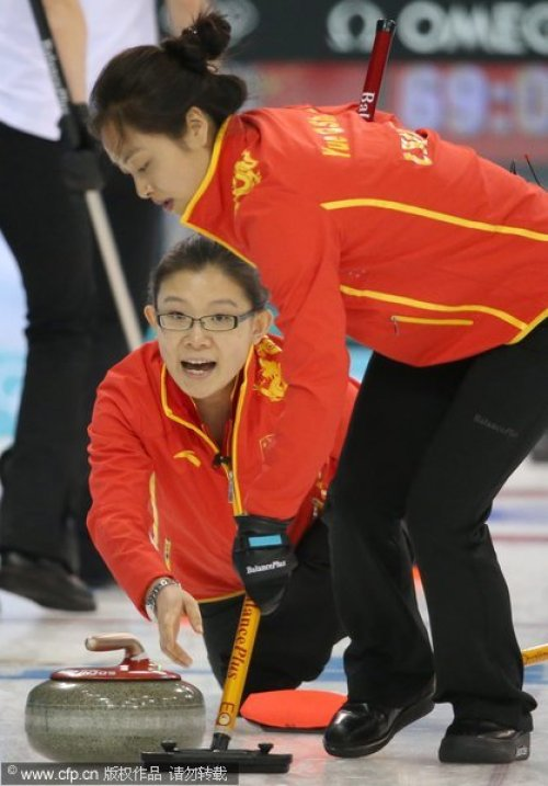 [高清组图]冰壶女队克服慢热 7-5挫俄罗斯取胜