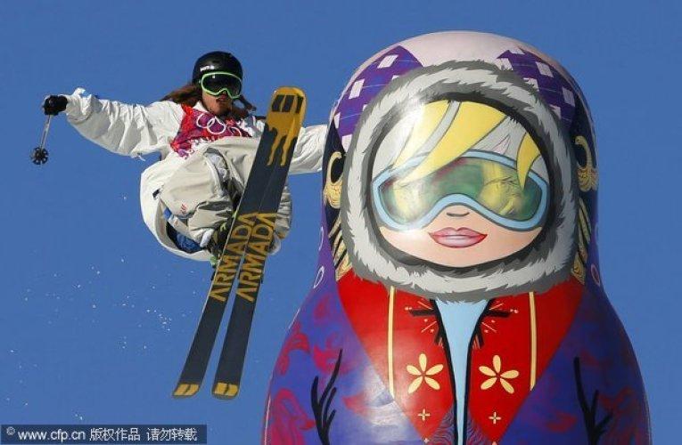 [高清组图]冬奥会自由式滑雪男子障碍技巧赛况