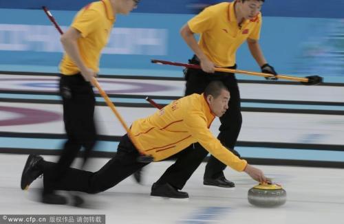 [高清组图]男子冰壶循环赛 中国加赛5-6不敌瑞典