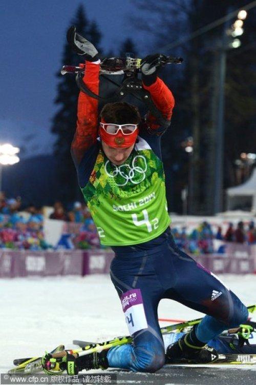 [高清组图]冬奥冬季两项男子接力 俄罗斯夺冠