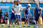 [高清组图]阿根廷队热身训练 积极备战淘汰赛