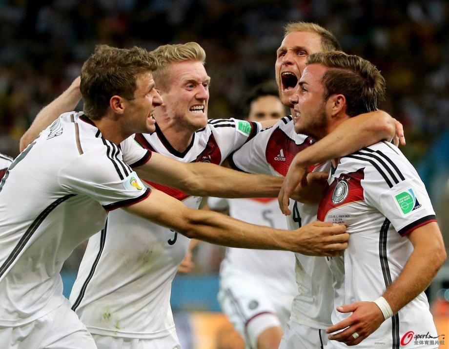 [高清组图]格策加时绝杀 德国1-0阿根廷4夺世界杯
